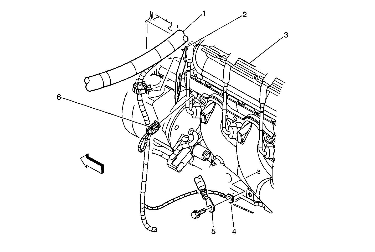Lower Left Side Of The Engine Components