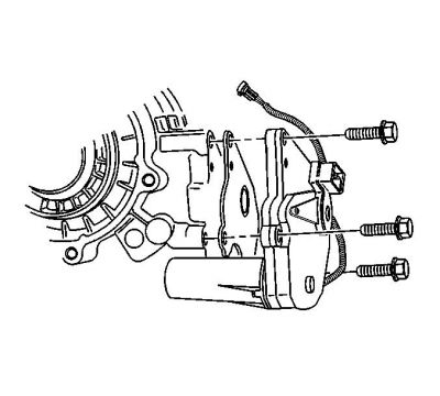 replacing transfer case encoder motor 1999 2006 2007 2013 remove the transfer case shield refer to transfer case shield replacement 3 remove the front propeller shaft refer to propeller shaft replacement